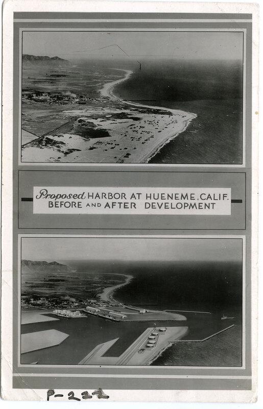 Proposed Harbor at Hueneme postcard