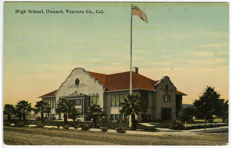 Oxnard High School postcard