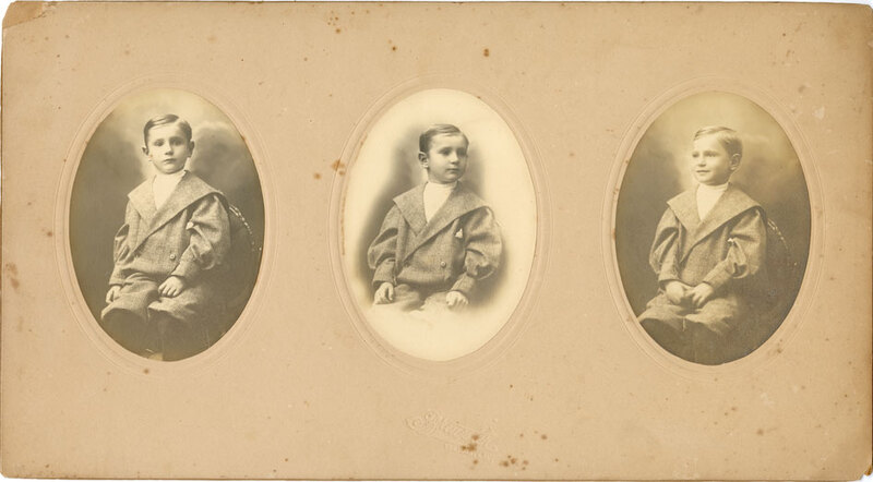 Oval Portraits of Young Boy, 1900