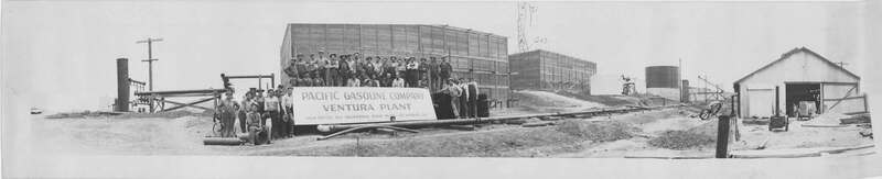 Panoramic group photo at Ventura gas plant