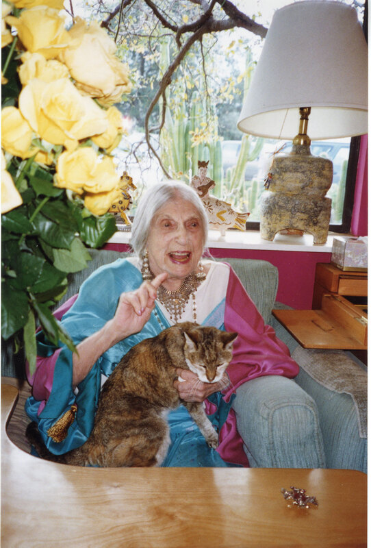 Beatrice Wood Sitting in Chair