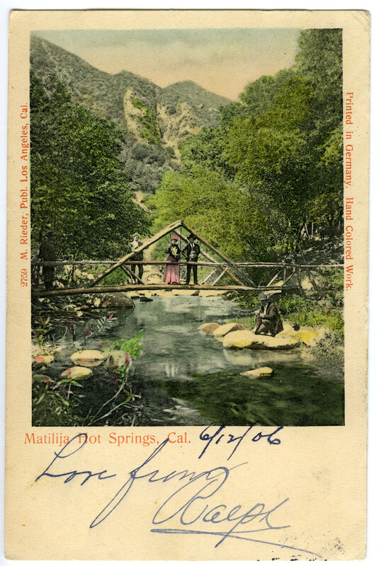 Matilija Hot Springs Post Card