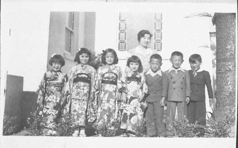 Children at Japanese Methodist Church Group Photo
