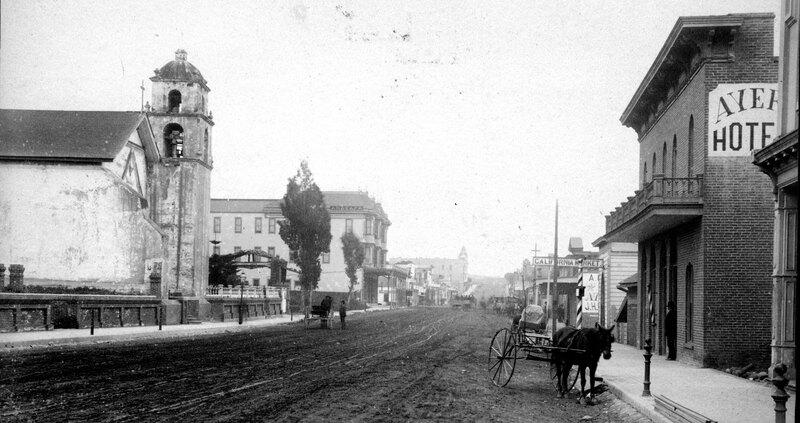 Main Street Ventura Looking East, 1890