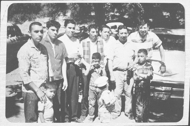 Men at Steckel Park, Santa Paula