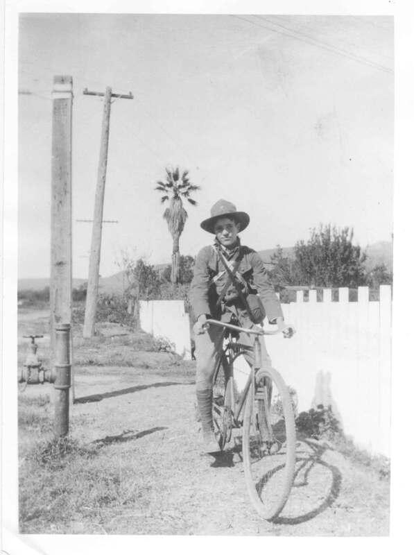 Jack Strobel in Boy Scout uniform