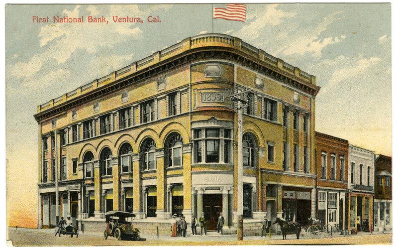 First National Bank Postcard