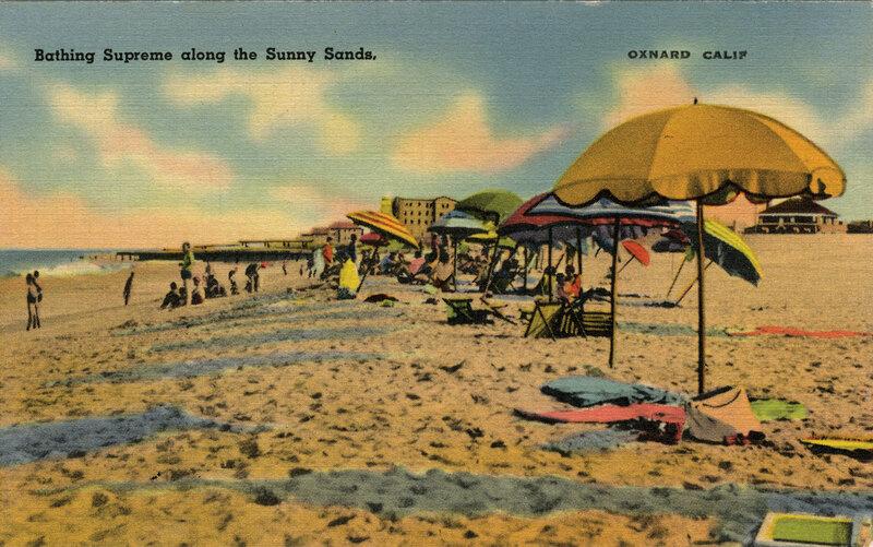 Bathing Supreme along the Sunny Sands, Oxnard postcard