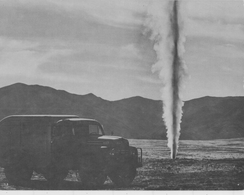 Blowing Oil Well