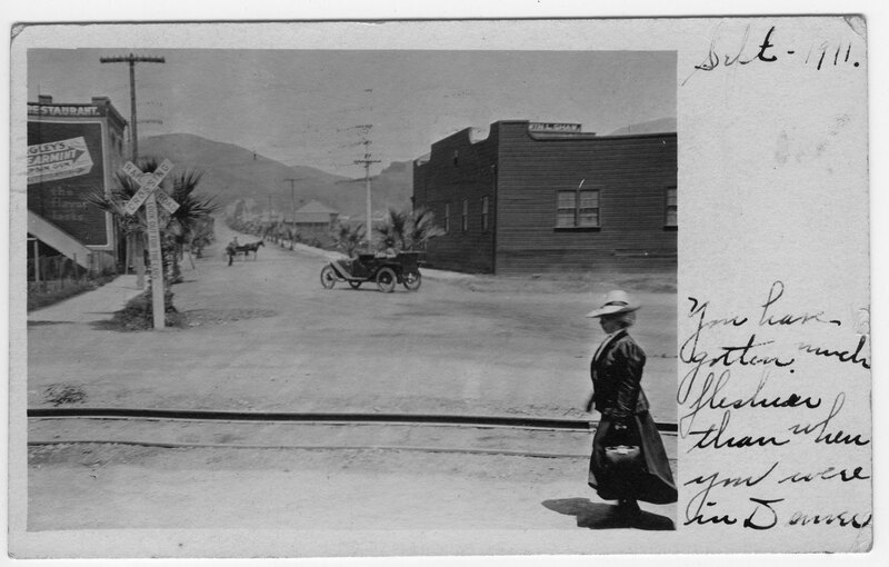 Railroad Crossing postcard
