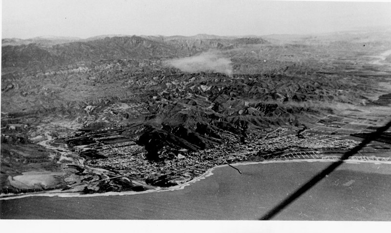 Aerial View of Ventura, 1948