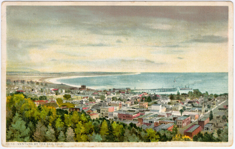 Ventura By The Sea, Calif. post card