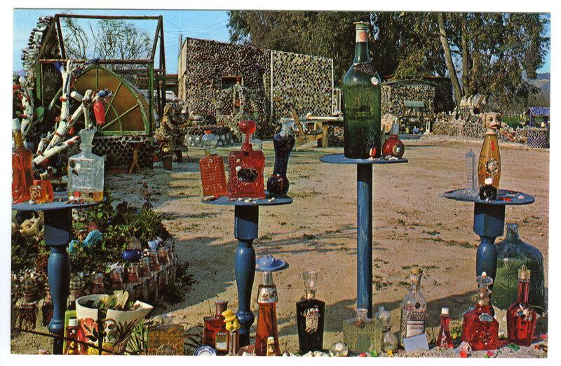 Bottles at the Bottle Village postcard