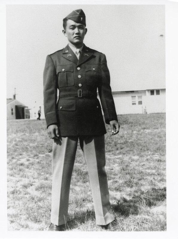 Nagao Fujita Portrait in Army Uniform
