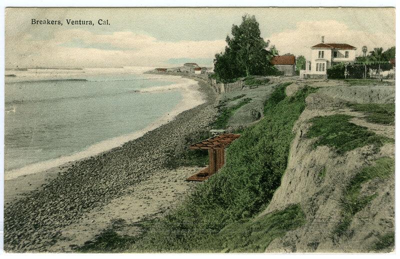 Breakers on Ventura Coast Postcard