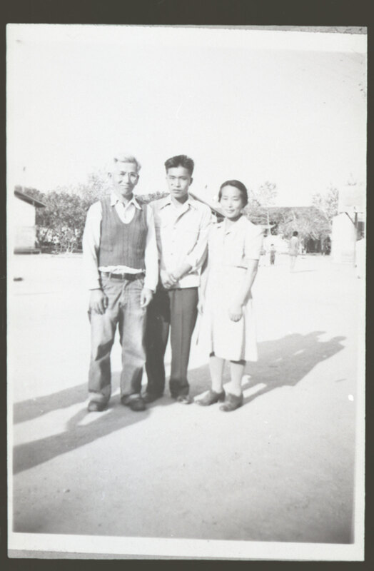 Frank & Tono Takasugi With Son Thomas, 1943