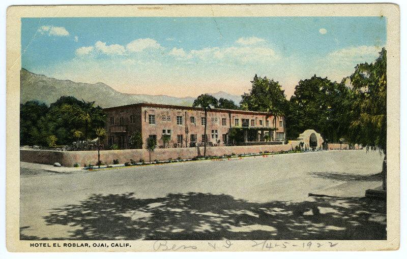 Hotel El Roblar postcard
