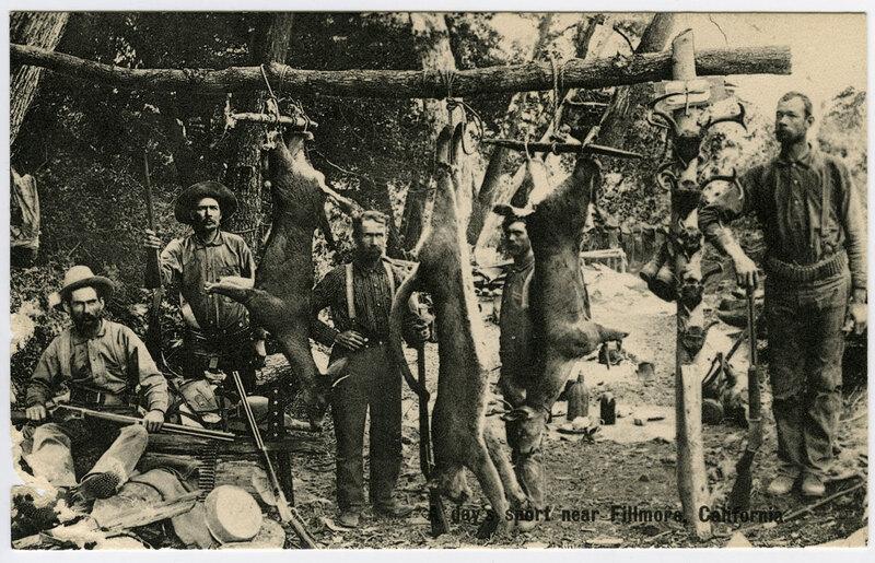 Hunting Near Fillmore postcard