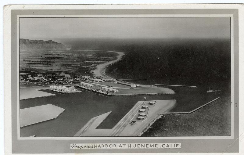 Proposed Harbor at Hueneme, Calif. undated. post card