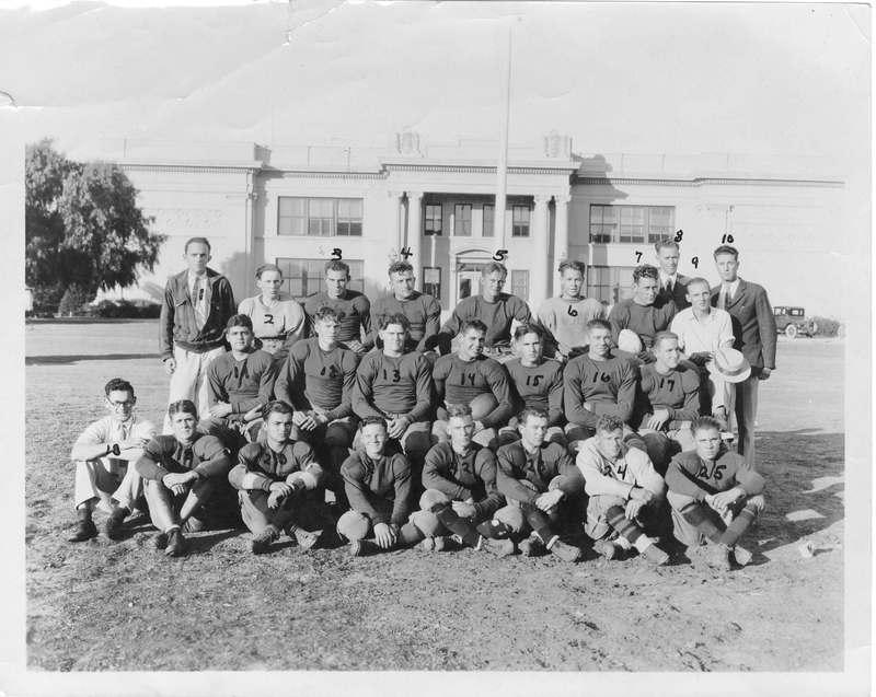 Ventura Junior College football team in 1928