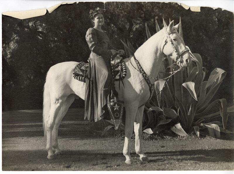 Carmelita Fitzgerald Nicholson on Horseback