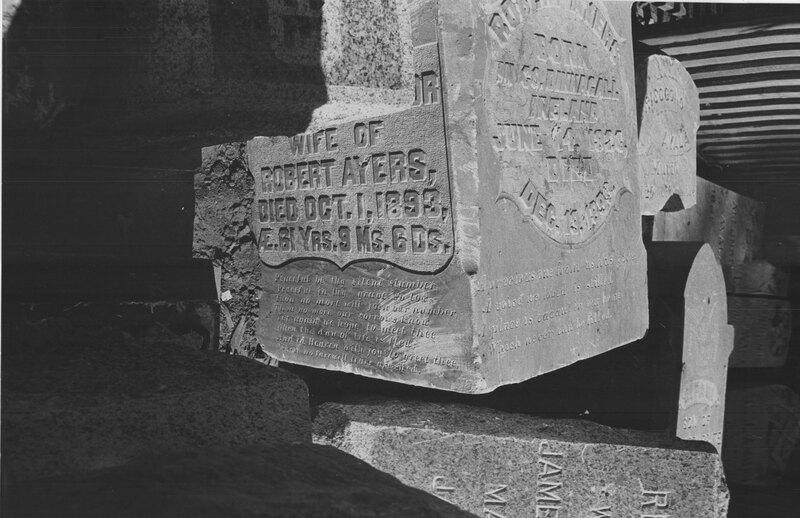 Gravestones From Former Ventura City Cemetery