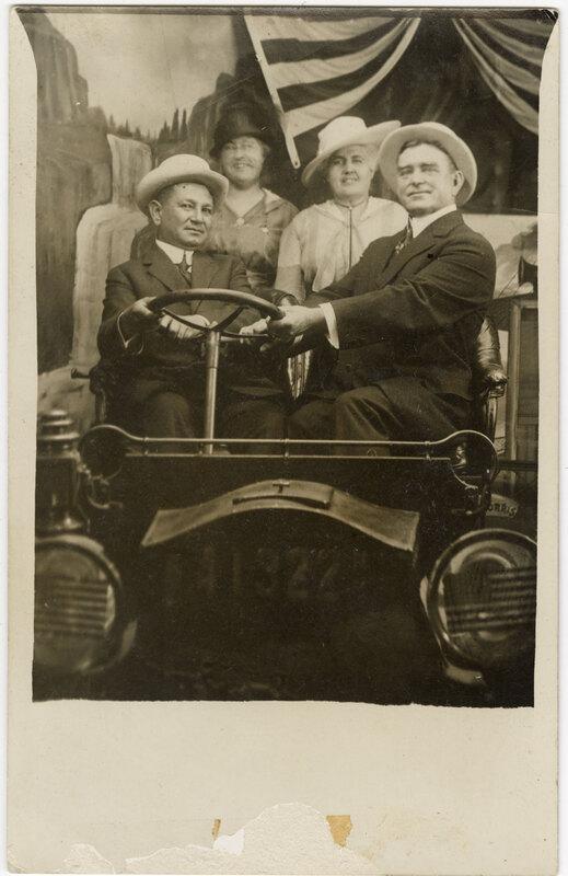 Untitled, (Group photo of Adolfo Camarillo, Isabel Camarillo, Laura Donlon and Charles Donlon) Post Card