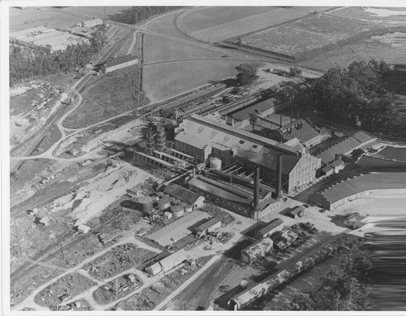 Oxnard Sugar Beet Factory Aerial View