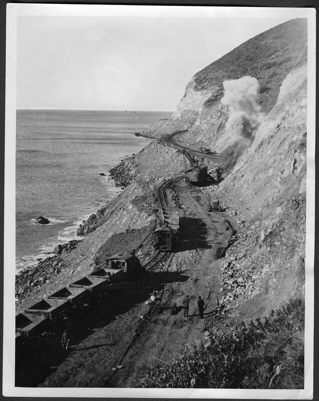 Pacific Coast Highway During Construction