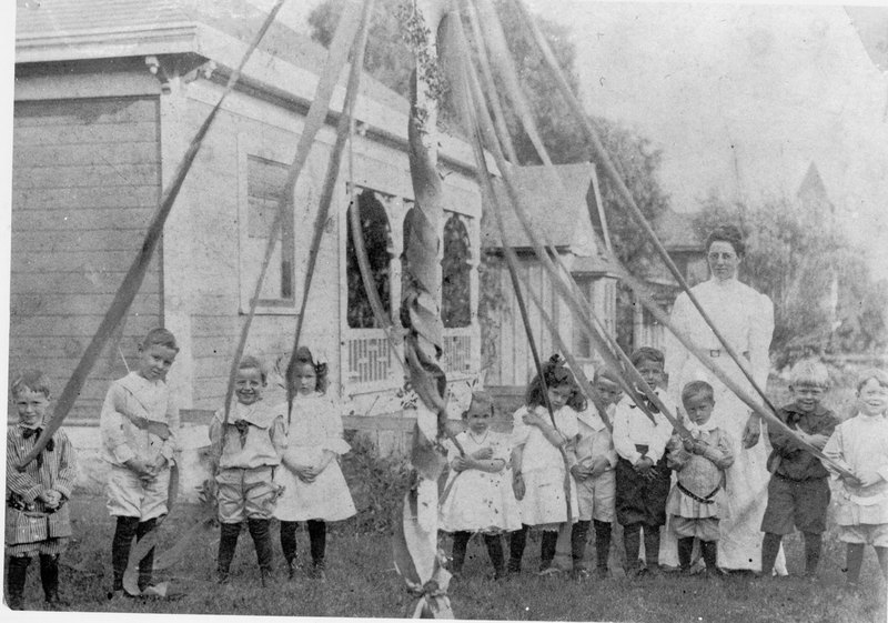 Kids and a May Pole