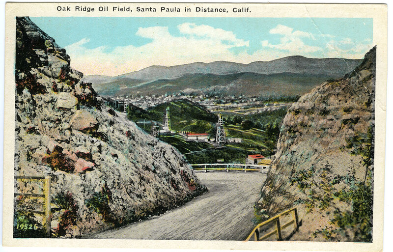 Oak Ridge Oil Field Postcard