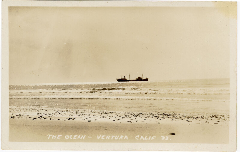 The Ocean-Ventura, Calif. Post Card