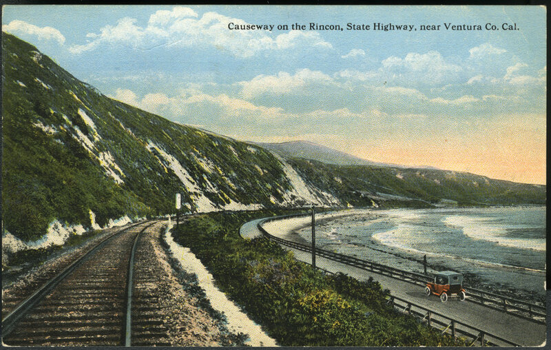 Causeway on the Rincon, State Highway Near Ventura County