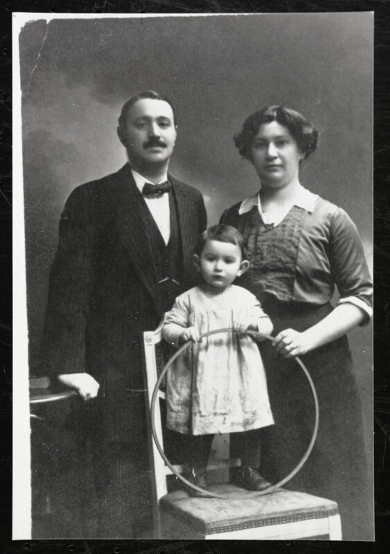 Ernst and Anna Kohn With Baby Walter