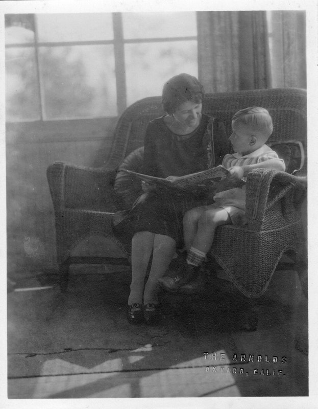 Woman and child reading together