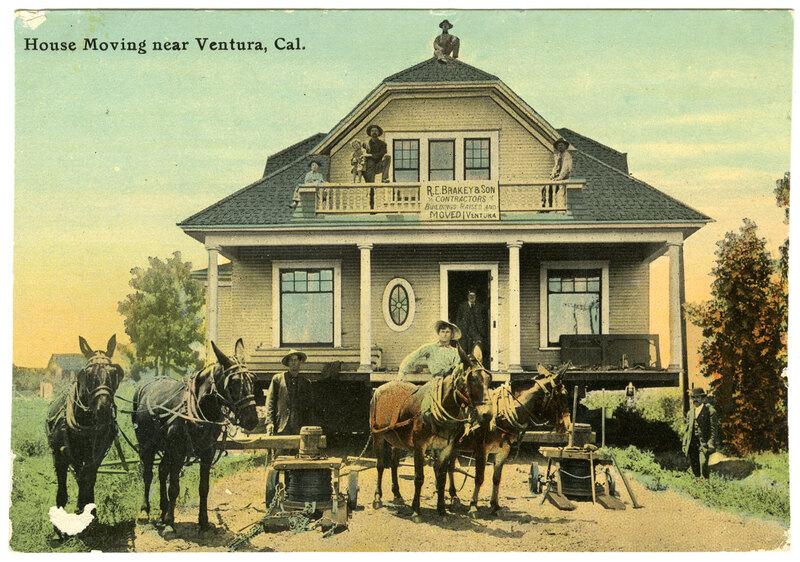 House Moving postcard