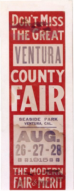 Ventura County Fair Poster, 1915