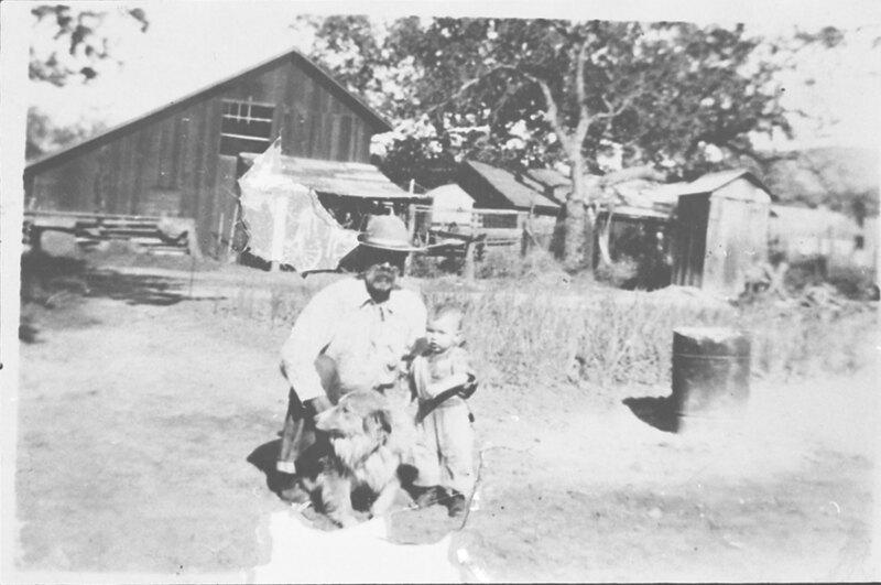 Reginaldo Ruiz With Toddler and Dog