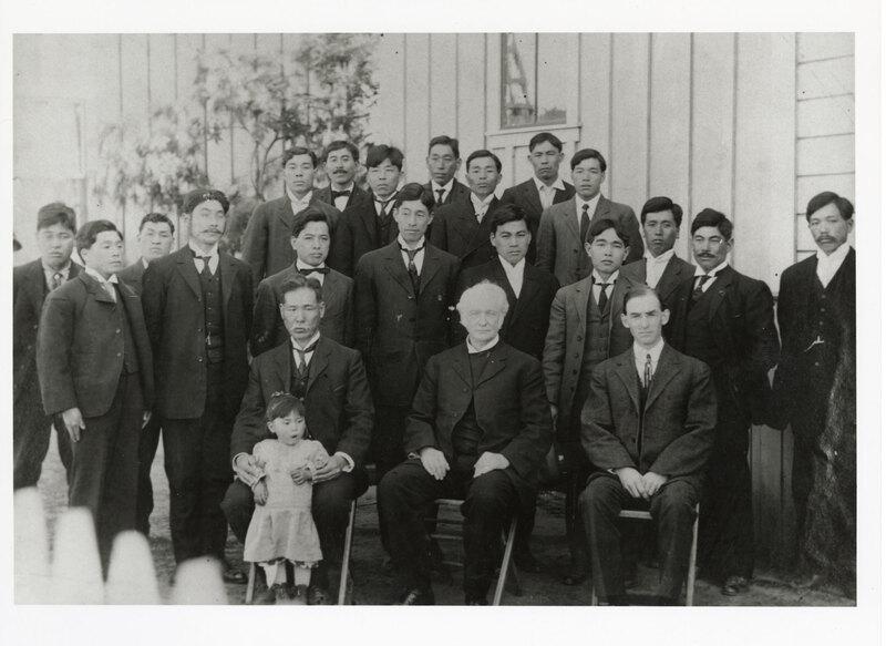 Japanese Methodist Church Congregation with Dr. M. Harris