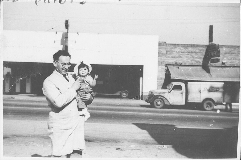 Max Riave Holding Baby Daughter