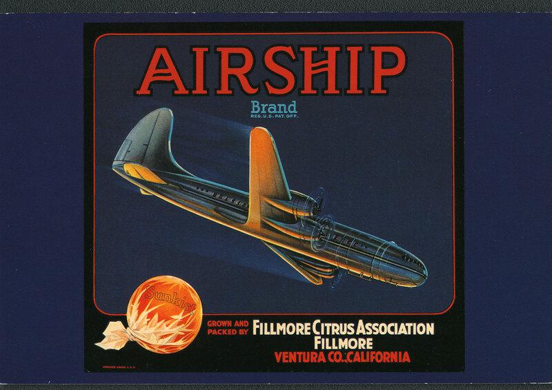 Airship brand postcard