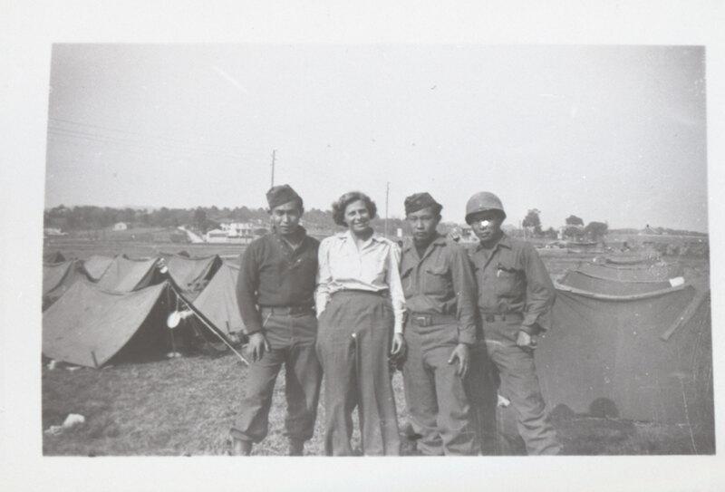 John, George & Leonard Takasugi in Army Camp