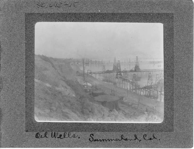 Oil wells in Summerland