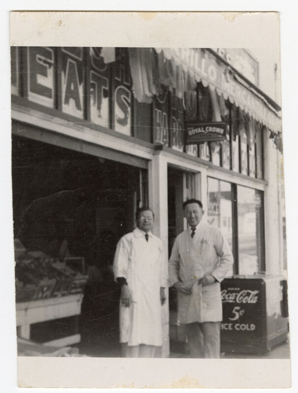 Max Riave in Front of Camarillo Mercantile print