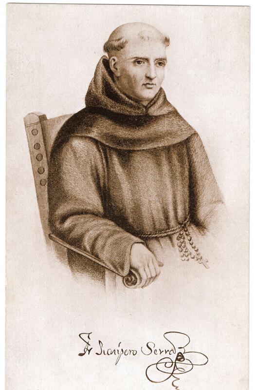 Father Junipero Serra Post Card