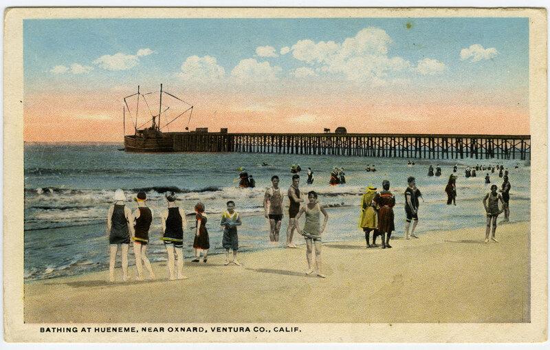Bathing at Hueneme postcard
