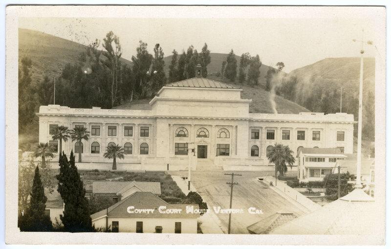 County Court House, Ventura Postcard