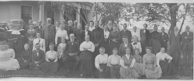 Mr. and Mrs. William R. Crowley Golden Anniversary Party Group Portrait