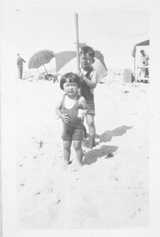 George and Jean Inadomi at Oxnard Beach