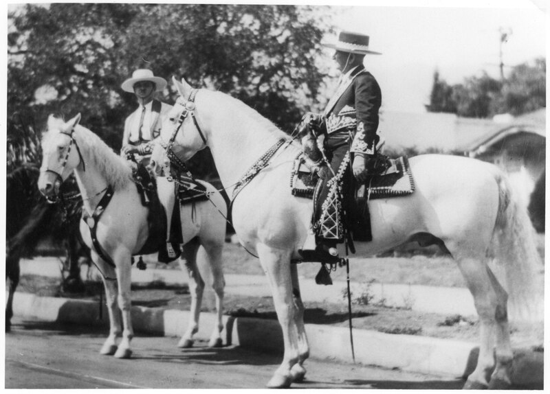 Adolfo Camarillo and another man on horseback